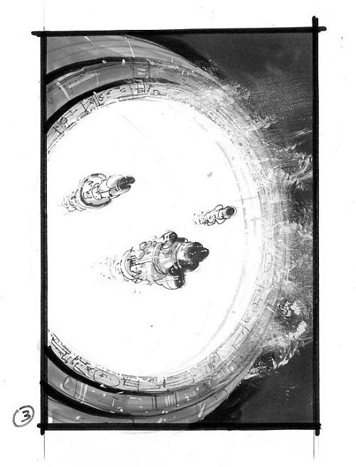 Trois crayonnés de Manchu pour la couverture du Magicien quantique de Derek Künsken qui paraîtra début 2020.