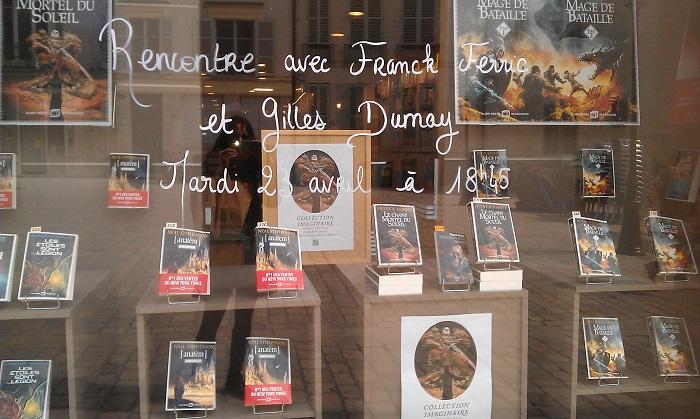 Gilles Dumay et Franck Ferric étaient hier à la Librairie Nouvelle d'Orléans pour présenter Albin Michel Imaginaire et Le Chant mortel du soleil.