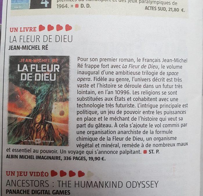 """""""Pour son premier roman, le français Jean-Michel Ré frappe fort avec """"La Fleur de Dieu"""", le volume inaugural d'une ambitieuse trilogie de space opera."""""""