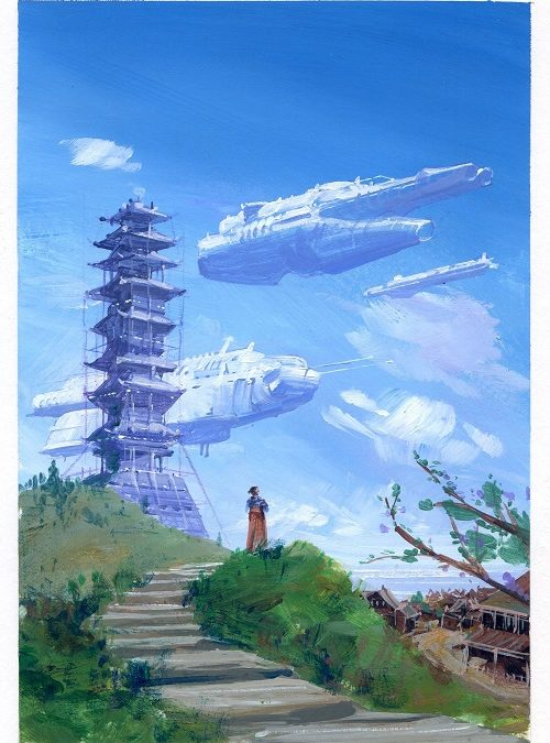 Quitter les monts d'automne d'Émilie Querbalec – Roughs et croquis de Manchu
